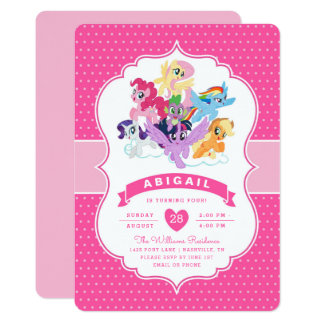 My little pony official merchandise at zazzle my little pony pink birthday invitation solutioingenieria Gallery