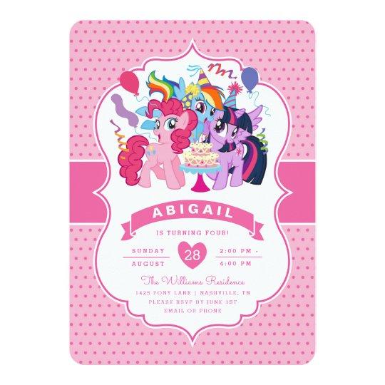 my little pony  pink birthday invitation  zazzle