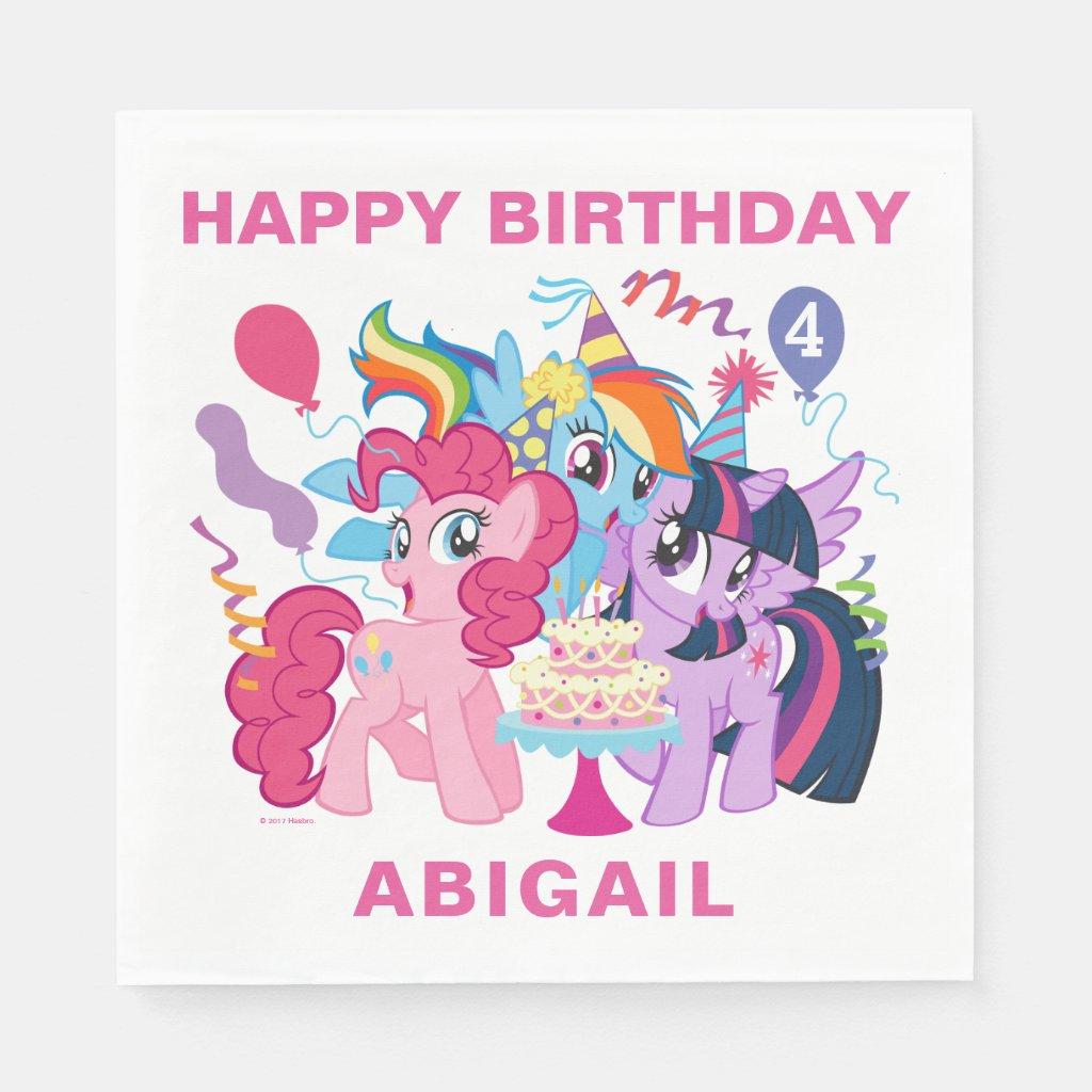 My Little Pony | Pink Birthday Paper Napkin