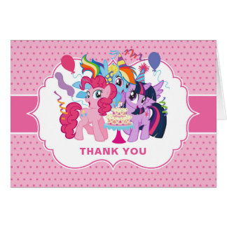 My Little Pony   Pink Birthday Thank You Card