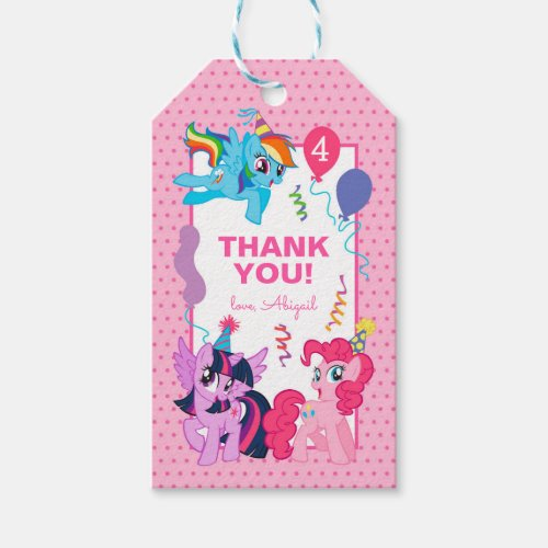 My Little Pony   Pink Birthday Thank You Gift Tags