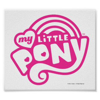 My Little Pony Pink Logo Poster