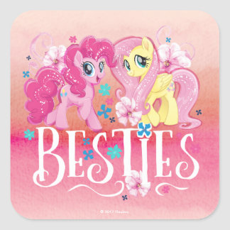 My Little Pony   Pinkie and Fluttershy - Besties Square Sticker