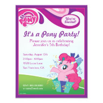 My Little Pony Pinkie Pie Birthday Party Card