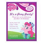 My Little Pony Pinkie Pie Birthday Party Personalized Invite