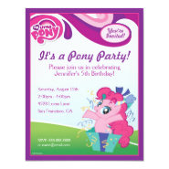 My Little Pony Pinkie Pie Birthday Party Personalized Invite