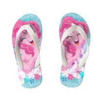 My Little Pony | Pinkie Running Through Flowers Kid's Flip Flops