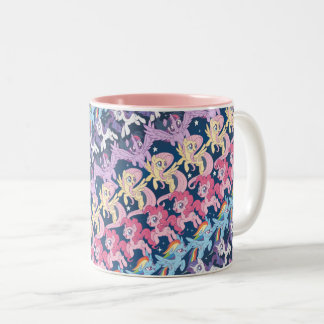 My Little Pony | Pony Rainbow Pattern Two-Tone Coffee Mug