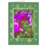 My Little Pony (Purple and Green) Greeting Card