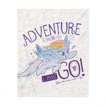 My Little Pony | Rainbow - Adventure Is Calling Fleece Blanket