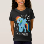 """My Little Pony   Rainbow Dash Birthday T-Shirt<br><div class=""""desc"""">Happy Birthday from My Little Pony.  Personalize this Birthday shirt by adding your name and age.</div>"""