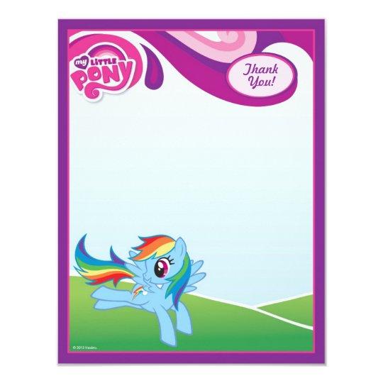 My Little Pony Rainbow Dash Thank You Card | Zazzle.com