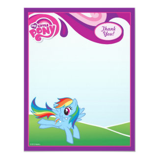 My Little Pony Rainbow Dash Thank You 4.25x5.5 Paper Invitation Card