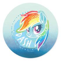 My Little Pony | Rainbow Dash Watercolor Classic Round Sticker
