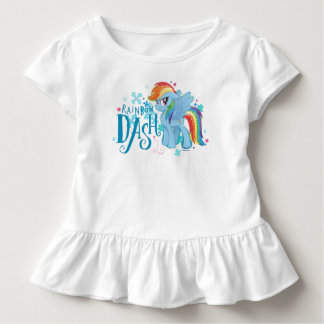 My Little Pony | Rainbow Dash Watercolor Flowers Toddler T-shirt