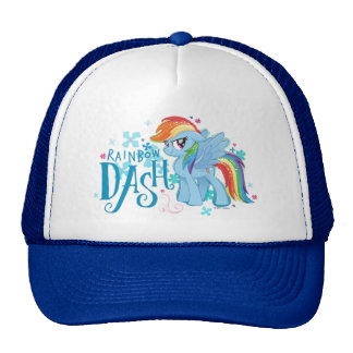 My Little Pony | Rainbow Dash Watercolor Flowers Trucker Hat