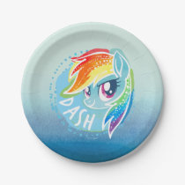 My Little Pony | Rainbow Dash Watercolor Paper Plate