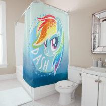 My Little Pony | Rainbow Dash Watercolor Shower Curtain