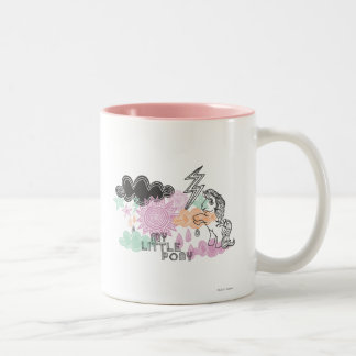 My Little Pony Retro Elements Design Two-Tone Coffee Mug