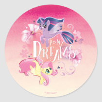 My Little Pony | Twilight and Fluttershy - Dreams Classic Round Sticker