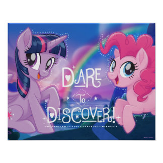 My Little Pony | Twilight and Pinkie - Discover Poster