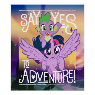 My Little Pony | Twilight and Spike - Adventure Poster