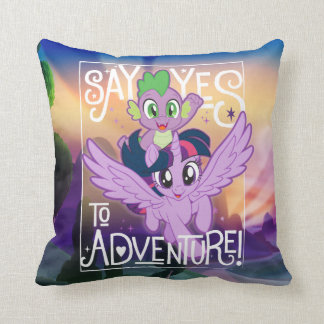 My Little Pony   Twilight and Spike - Adventure Throw Pillow