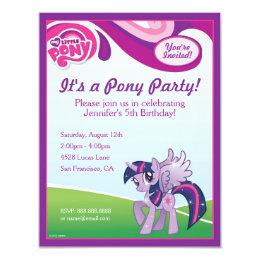 My Little Pony Twilight Sparkle Birthday Party Card