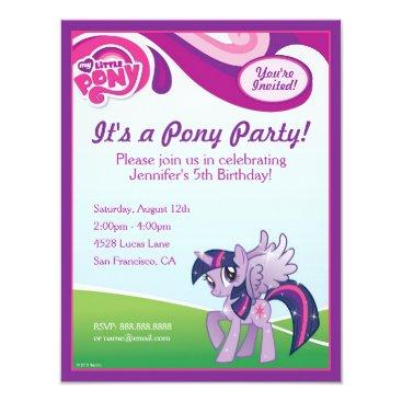 mylittlepony My Little Pony Twilight Sparkle Birthday Party Card