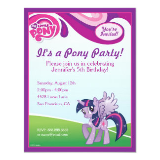 My Little Pony Twilight Sparkle Birthday Party 4.25x5.5 Paper Invitation Card
