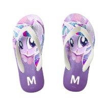 My Little Pony   Twilight Sparkle Watercolor Kid's Flip Flops