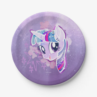 My Little Pony   Twilight Sparkle Watercolor Paper Plate