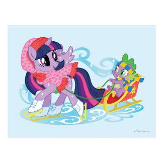 My Little Pony Winter Postcard