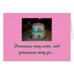 My little Princess, Happy birthday Stationery Note Card