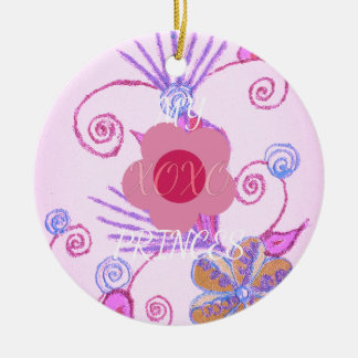 My Little Princess I love You XOXO Ceramic Ornament