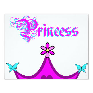 My Little Princess Invitation Card