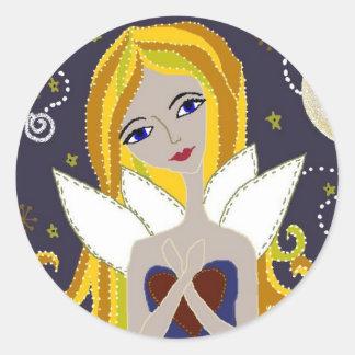 My Little Purple Fairy Classic Round Sticker
