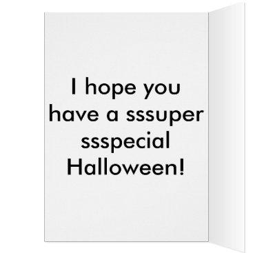 Halloween Themed My Little Python Halloween card