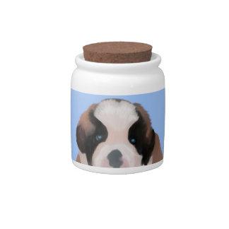 My little Saint Bernard Candy Jar
