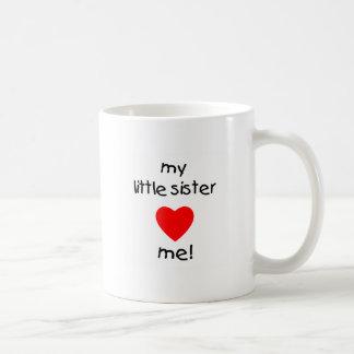My Little Sister Loves Me Coffee Mug