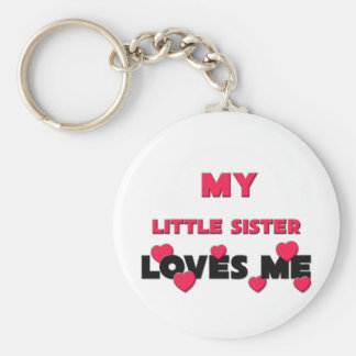My Little Sister Loves Me Keychain