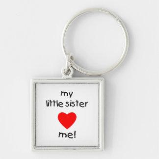 My Little Sister Loves Me Keychain