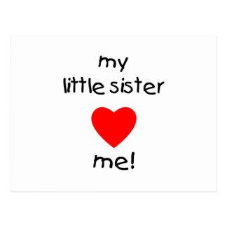 My Little Sister Loves Me Postcard