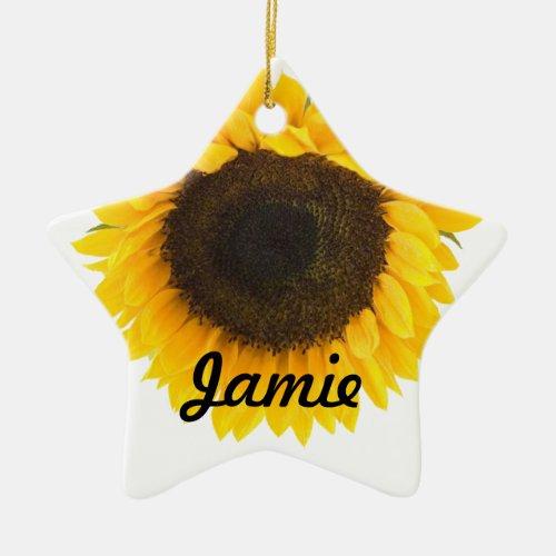 My Little Sunflower Star Christmas Ornaments