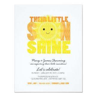 my LITTLE SUNSHINE baby shower 4.25x5.5 Paper Invitation Card