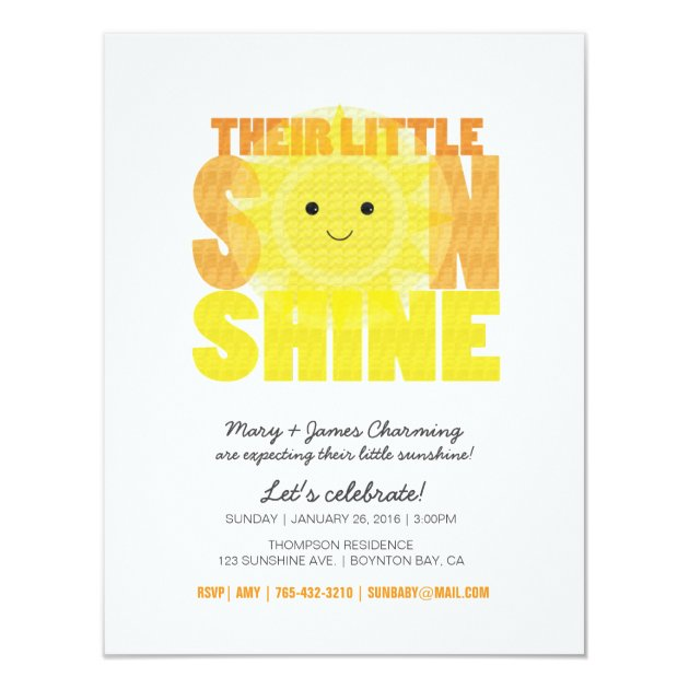You Are My Sunshine Baby Shower Invites for amazing invitation example