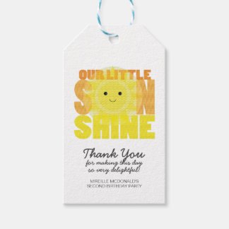 my LITTLE SUNSHINE birthday party favor tag