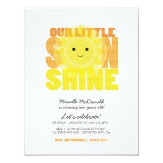 my LITTLE SUNSHINE child birthday party 4.25x5.5 Paper Invitation Card