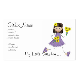 My Little Sunshine Mommy Card Double-Sided Standard Business Cards (Pack Of 100)