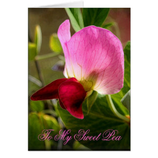 My Little Sweet Pea Card